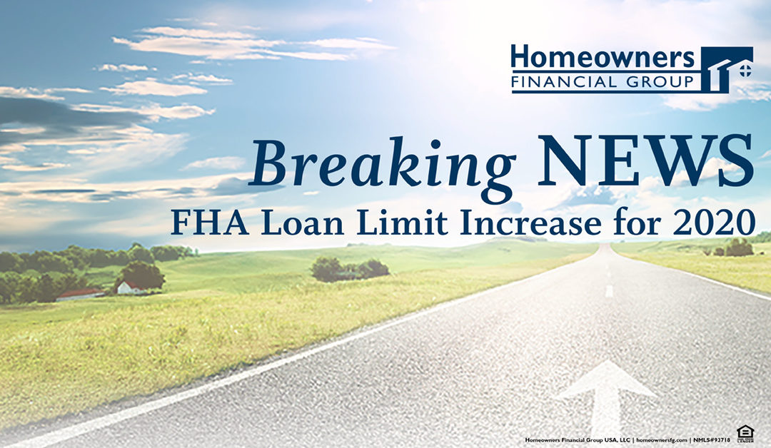 FHA Loan Limit Increase for 2020